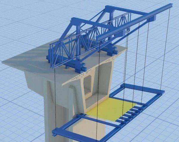 分体式桥梁施工动画