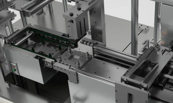 软包电池生产线动画