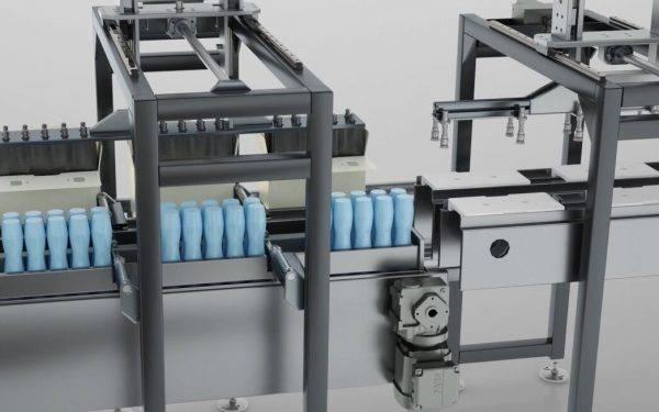 牛奶包装线动画(二)
