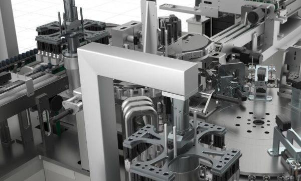 圆柱电池自动化生产线